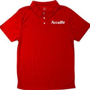 חולצת פולו כותנה אדומה
