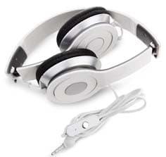 אוזניות מתקפלות כוללות דיבורית צבע לבן