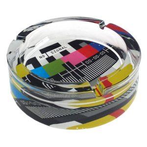 מאפרה זכוכית צבעוני