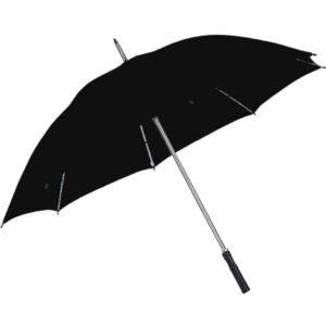 מטריה ממותגת שחורה גדולה