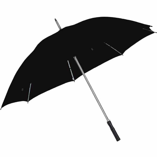 מטריה ממותגת שחורה
