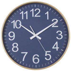 שעון עץ במבוק כחול