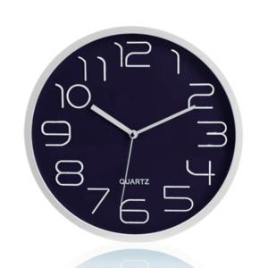 שעון קיר מעוצב כסוף ונייבי