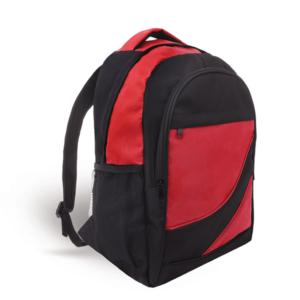 תיק גב מעוצב וממותג לכנסים תיק גב אדום שחור