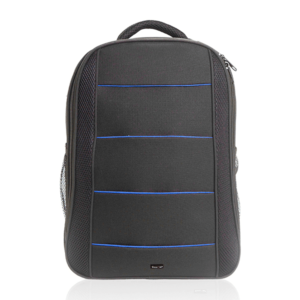 תיק גב מעוצב למחשב נייד שחור כחול