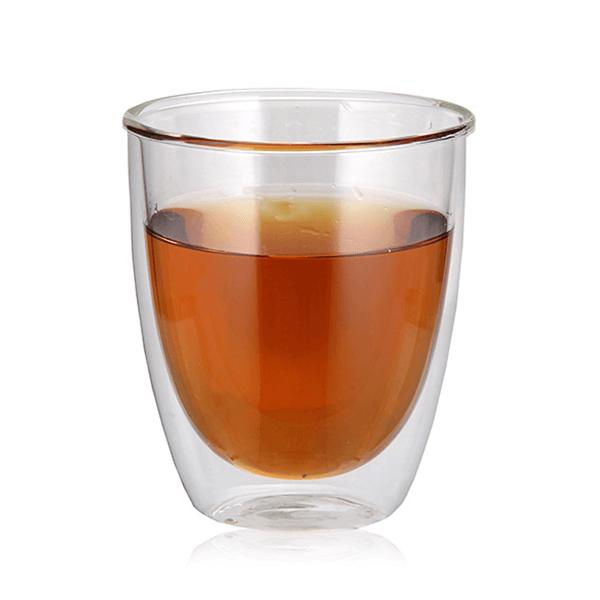 כוס זכוכית עם דופן כפולה למיתוג