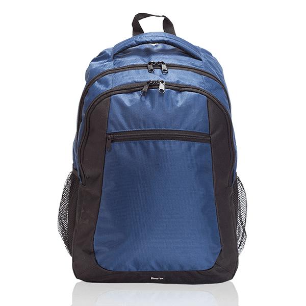 תיק גב ממותג למחשב נייד כחול