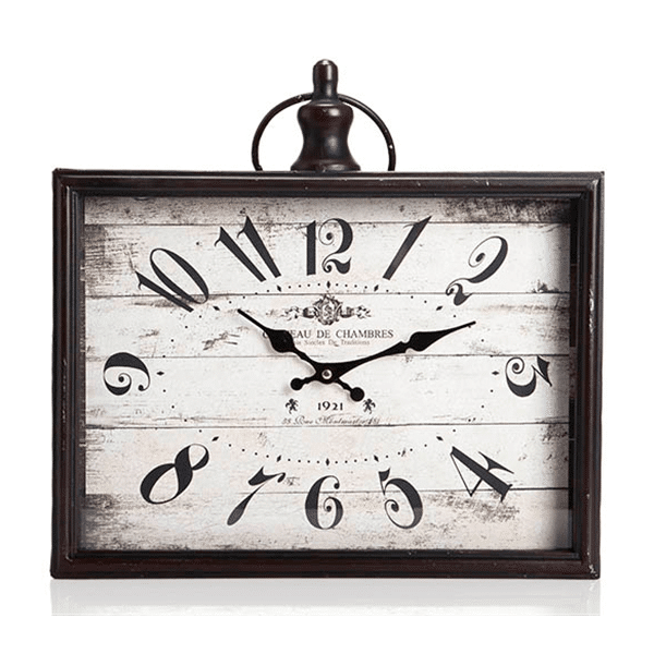 שעון קיר וינטג' ממותג למשרד