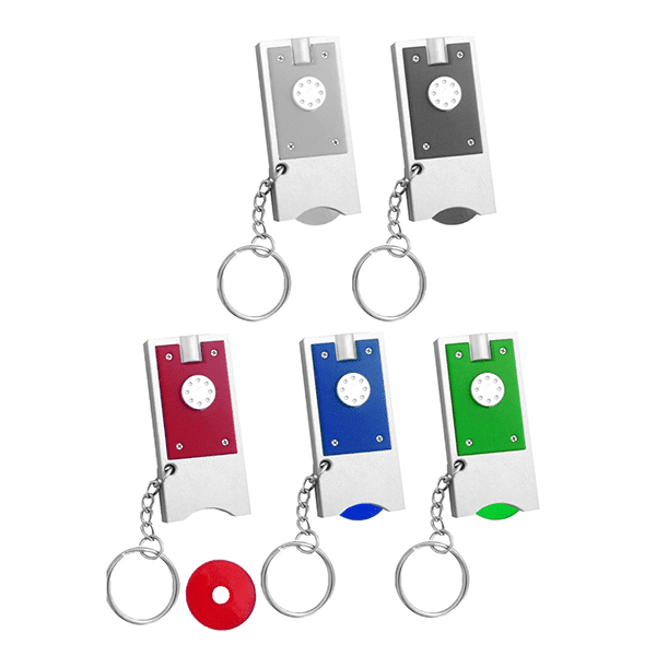 מחזיק מפתחות ממותג עם מטבע