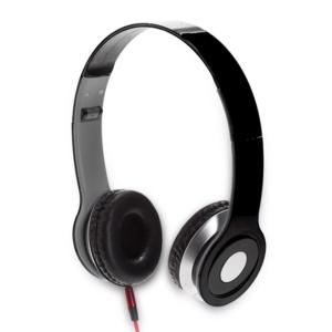 אוזניות קשת עם מיקרופון שחורות