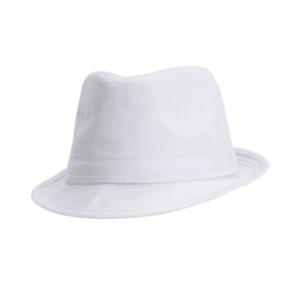 כובע מגבעת לבן למיתוג