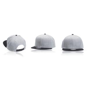 כובע מצחיה אפור למיתוג