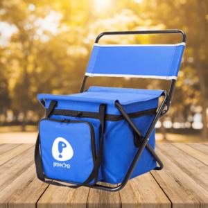 צידנית כיסא למיתוג כחולה