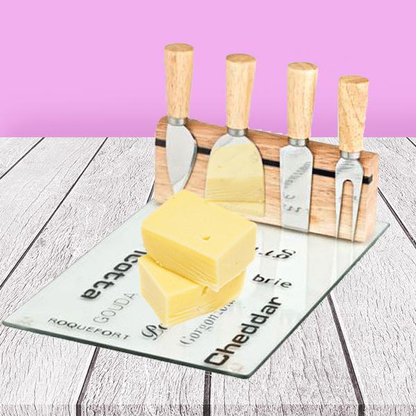 סט הגשה וחיתוך גבינה