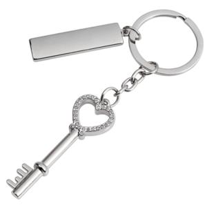 מחזיק מפתחות מפתח לב