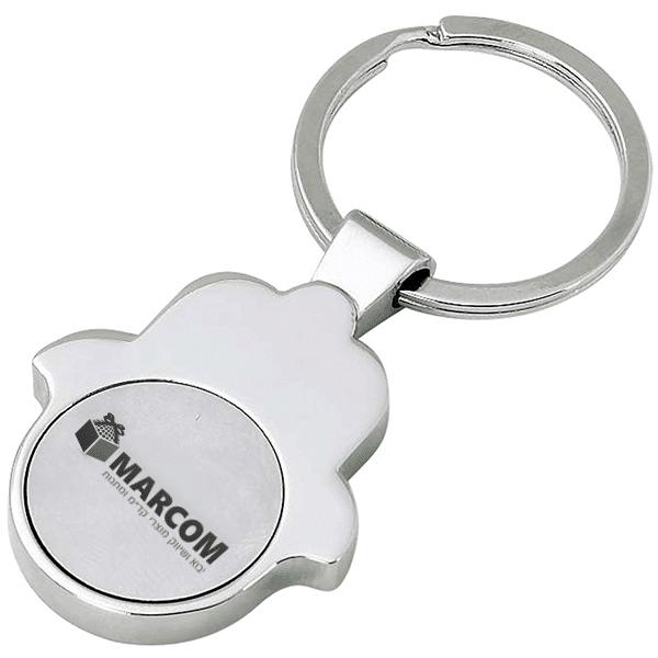 מחזיק מפתחות מטבע נשלף