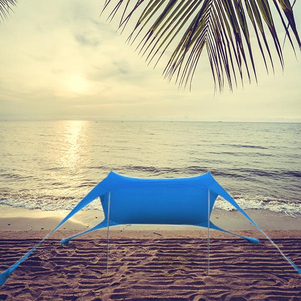 אוהל חוף מבד לייקרה