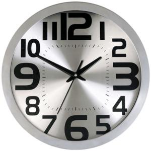 שעון קיר למשרד בצבע כסף