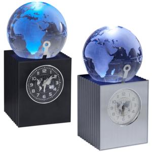 שעונים שולחניים עם גלובוס מזכוכית