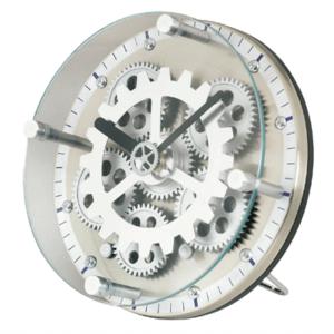 שעון שולחני עם גלגלי שיניים