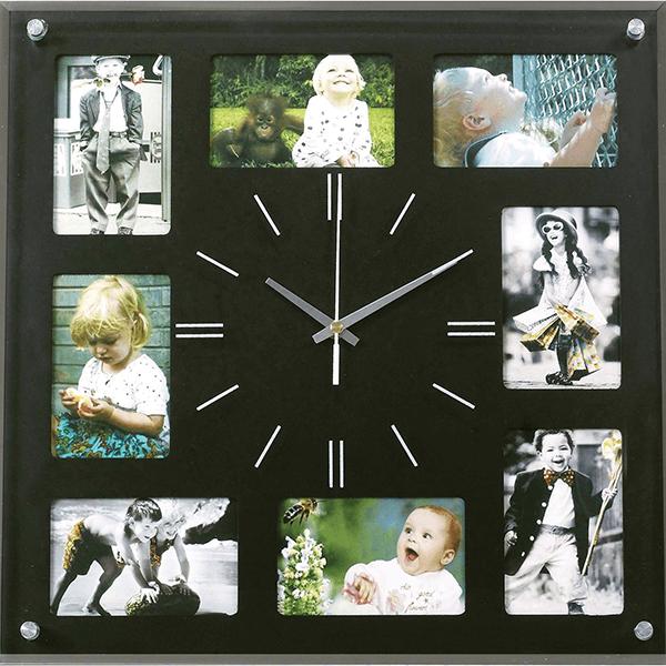 שעון קיר עם תמונות