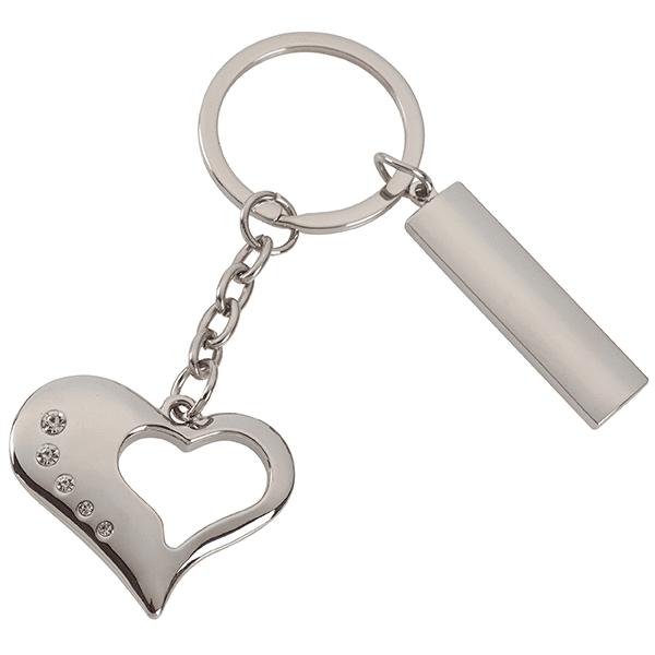 מחזיק מפתחות חלון בצורת לב