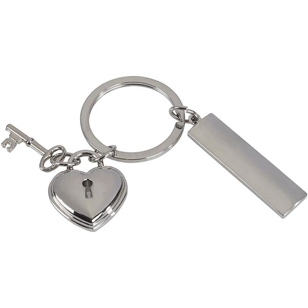 מחזיק מפתחות עם מנעול לב