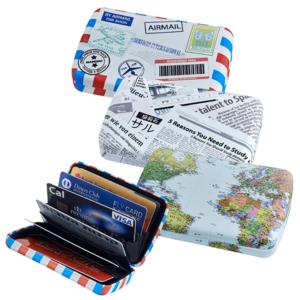 נרתיק מעוצב לכרטיסי אשראי בעיצובים שונים, מתנה לטיסה