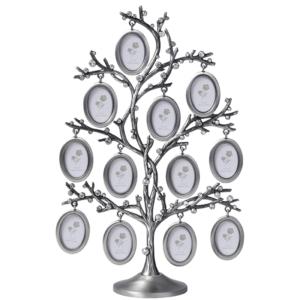 עץ תמונות משפחה 12 מסגרות אובליות לתמונות מתנה לחגים