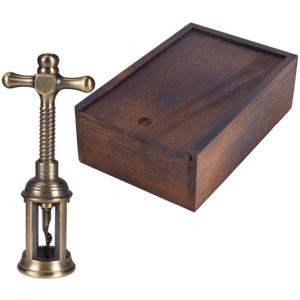 פותחן יין מעוצב רטרו בקופסת עץ מתנה למנהל ולמשרד