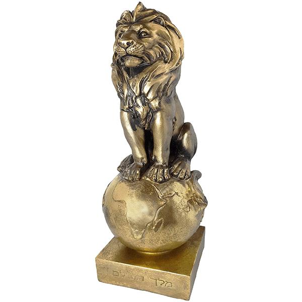 פסל אומנותי אריה זהב