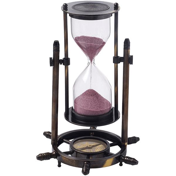 שעון חול מנחושת מהודר 5 דקות