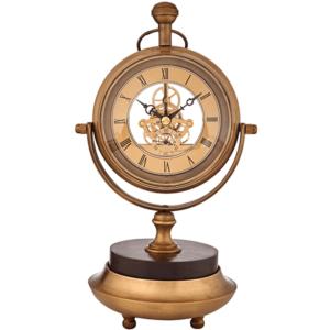 שעון נחושת אנלוגי מתנה למנהל