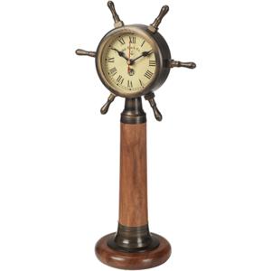 שעון נחושת הגה ספינה מתנה למנהל