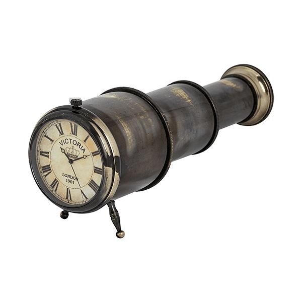 שעון שולחני נחושת עיצוב טלסקופ
