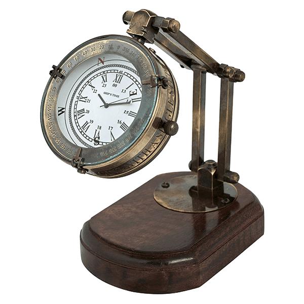 שעון שולחני על רגל מתכווננת