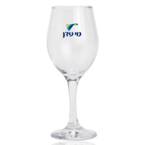 כוס יין זכוכית למיתוג עם רגל