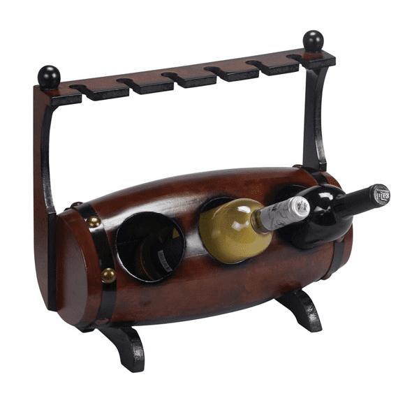 מעמד עץ לבקבוקי יין