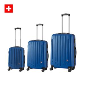 סט מזוודות קשיחות צבע כחול