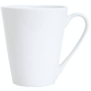 ספל קפה לבן למיתוג עם ידית