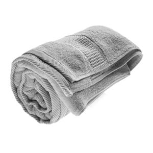 מגבת גוף ממותגת אפורה