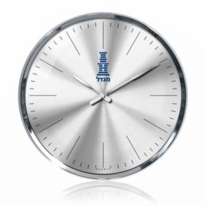 שעון קיר אלגנטי למיתוג עם לוגו