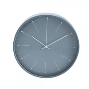 שעון קיר ממותג למשרד בצבע כחול