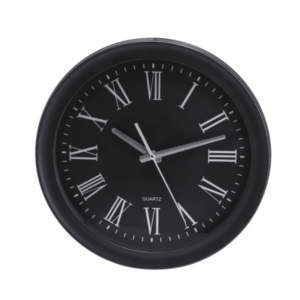שעון קיר ממותג למנהל צבע שחור