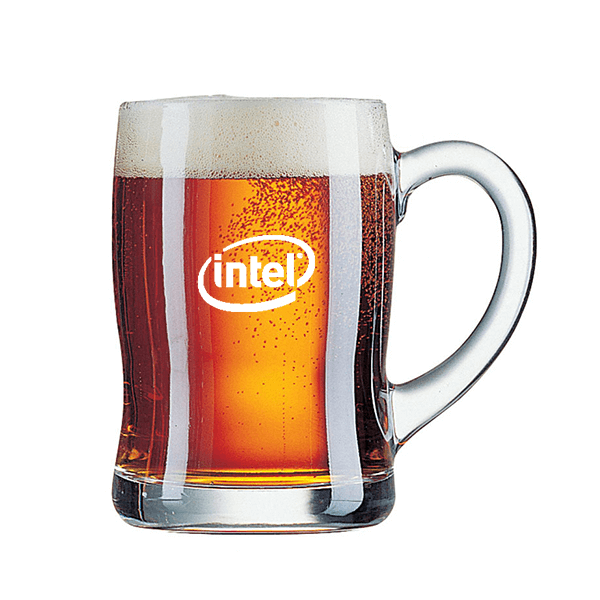 כוס בירה עם הדפסה