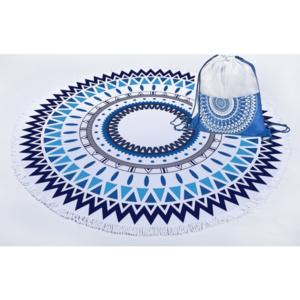 מגבת חוף מנדלה כחולה
