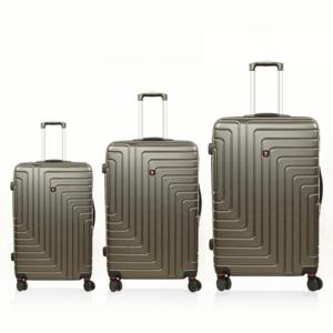 סט מזוודות סוויס אפורות