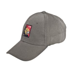 כובע ממותג אפור