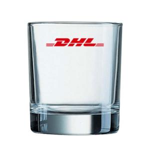 כוס ויסקי ממותגת עגולה