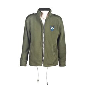 מעיל פליז חד צדדי ירוק